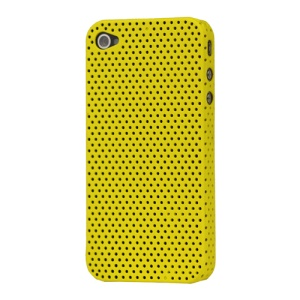 Perforated Ventilated Hard Case for iPhone 4 - Yellow