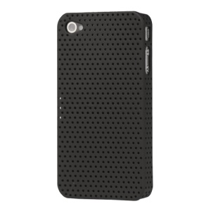 Perforated Ventilated Hard Case for iPhone 4 - Black