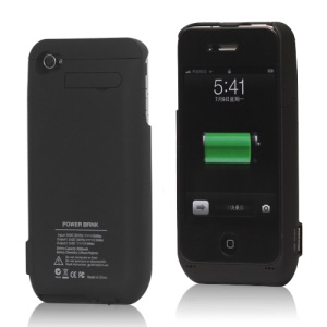 3000mAh Detachable External Battery Charger Case with Stand for iPhone 4S 4