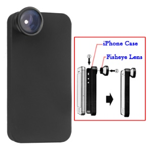 Apple iPhone 4 Fisheye Lens with Hard Case - Black