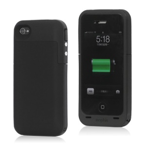 2000mAh External Backup Battery Charger Case for iPhone 4 4S - Black