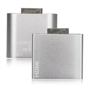 Dock to HDMI / Mini USB Adapter for iPad, iPad 2, iPhone 4, iPod Touch 4