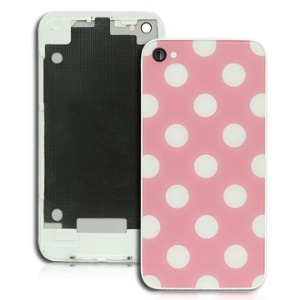 iPhone 4 Housing Replacement with White Spots and Pink Background