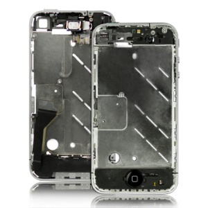 Apple iPhone 4 Middle Plate Frame Assembly Replacement Parts - Silver