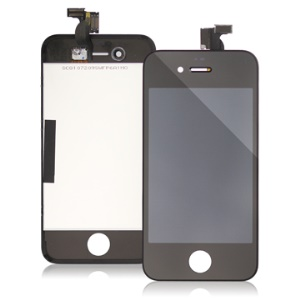 iPhone 4 LCD Assembly w/ Touch Screen and Supporting Frame (Original) - Black