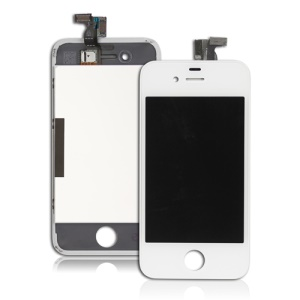 For iPhone 4 LCD Assembly w/ Touch Screen and Sopporting Frame OEM - White