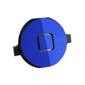 Electroplating Home Button Replacement for iPhone 4 - Blue