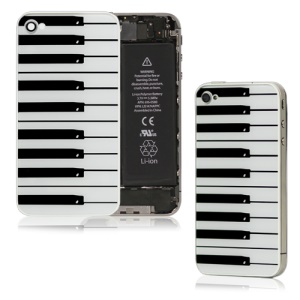 Piano Keyboard Back Cover Housing Replacement for iPhone 4