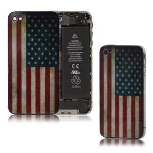 Retro American Flag Glass iPhone 4 Back Cover Housing Replacement
