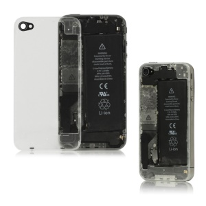 Clear Glass For iPhone 4 Back Cover Housing Replacement - Transparent
