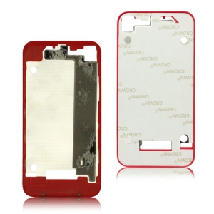 Plastic Frame Bezel for iPhone 4 Back Cover Housing - Red
