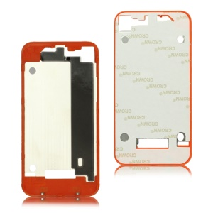 Plastic Frame Bezel for iPhone 4 Back Cover Housing - Red Orange