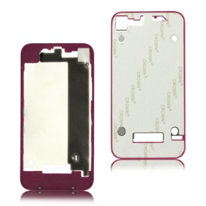 Plastic Frame Bezel for iPhone 4 Back Cover Housing - Rose