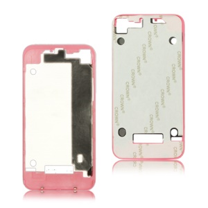 Plastic Frame Bezel for iPhone 4 Back Cover Housing - Pink