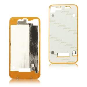 Plastic Frame Bezel for iPhone 4 Back Cover Housing - Orange