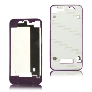 Plastic Frame Bezel for iPhone 4 Back Cover Housing - Purple