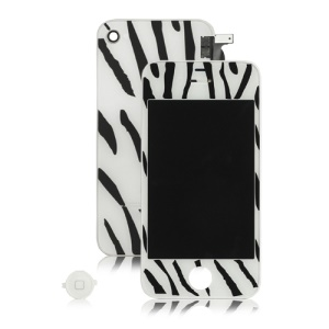 Zebra iPhone 4 Conversion Kit (LCD Assembly + Back Housing + Home Button)