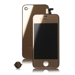 Plated Mirror iPhone 4 Conversion Kit (LCD Assembly + Back Housing + Home Button) - Rose Gold