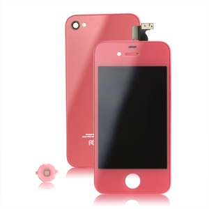 Colored iPhone 4 Conversion Kit (LCD Assembly + Back Housing + Home Button) - Pink