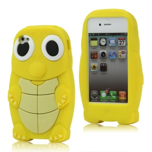 Adorable Sea Turtle Silicone Case for iPhone 4 4S - Yellow