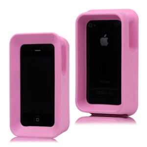 iPhone 4 4S Arkhippo 2 Max Protection Stand Case Cover - Pink