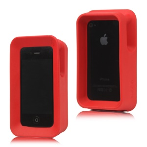 Arkhippo 2 Stand Max Protection Case Cover for iPhone 4 4S - Red
