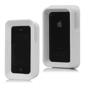 Max Protection Stand Case Cover Arkhippo 2 for iPhone 4 4S - White