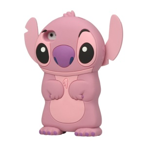 3D Endearing Stitch Silicone Case for iPhone 4 4S - Pink
