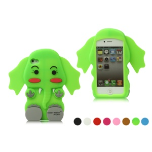 New Lovely 3D Elephant Silicone Case Cover for iPhone 4 4S