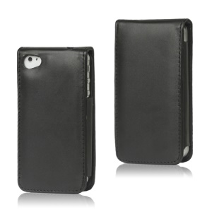Premium Leather Flip Case Cover for iPhone 4 4S