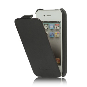 Genuine HOCO Duke Advanced Leather Case Cover for iPhone 4 4S - Black