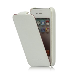 Genuine HOCO Duke Advanced Leather Case Cover for iPhone 4 4S - White