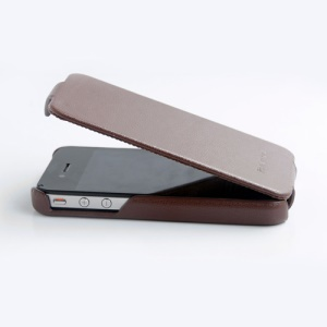 Genuine HOCO Duke Advanced Leather Case Cover for iPhone 4 4S - Brown