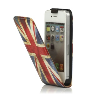 Retro Union Jack Flag Leather Flip Case for iPhone 4 4S