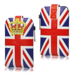 Union Jack Flag Leather Pouch Case for iPhone 4 4S / Samsung I9300 Galaxy S 3 / III