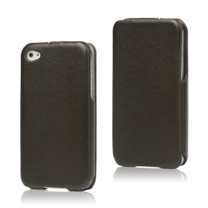 Slim Leather Case Cover for iPhone 4 4S - Brown