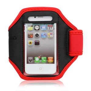 iPhone 4 4S Adjustable Sports Armband Case - Red