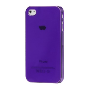 Clear Crystal Hard Case for iPhone 4 4S - Purple