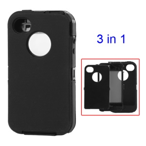 Detachable Defender Case for iPhone 4 4S - Black
