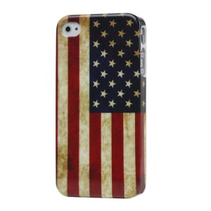 Retro American Flag Hard Case Cover for iPhone 4 4S