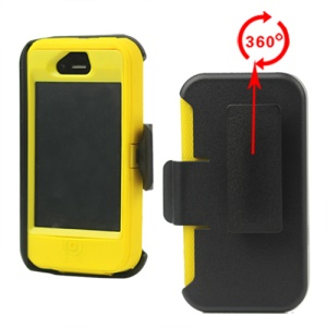 Superior Defender Case Cover for iPhone 4 4S with Belt Clip Holster - Yellow