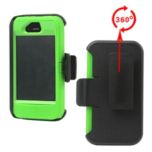 Superior Defender Case Cover for iPhone 4 4S with Belt Clip Holster - Green