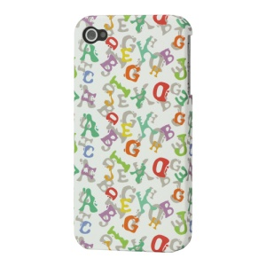iPhone 4 4S Rubberized Hard Cover English Alphabet