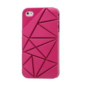 Premium 3D Hard Plastic Case Cover for iPhone 4 4S - Rose