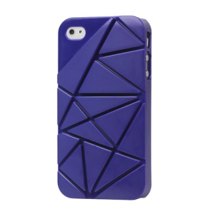 Premium 3D Hard Plastic Case Cover for iPhone 4 4S - Dark Blue