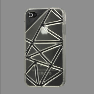 Premium 3D Hard Plastic Case Cover for iPhone 4 4S - Transparent
