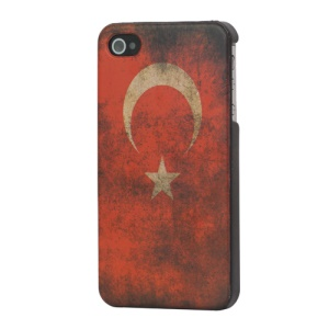 iPhone 4 4S Hard Case Vintage Old Looking Turkey Flag