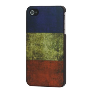 Vintage French Flag Hard Cover for iPhone 4 4S