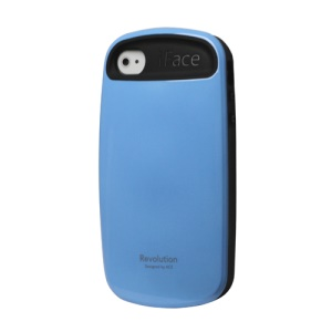 Glossy Hard Cover Case for iPhone 4 4S - Baby Blue