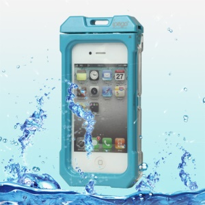 Waterproof Hard Plastic Case Cover for iPhone 4 4S - Baby Blue